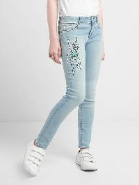 Gapkids &#124 Disney Tinkerbell High Stretch Super Skinny Jeans - Denim