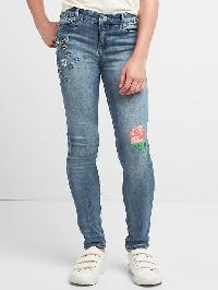 Gap High Stretch Embroidery Super Skinny Jeans - Denim