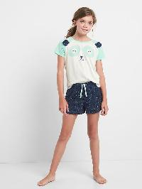Gap Animal Face Short Pj Set - New off white