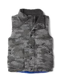 Gap Quilted Fleece Lined Vest - Heather grey