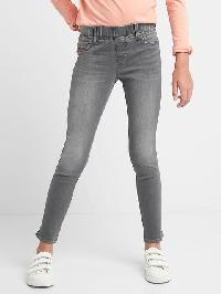 Gap High Stretch Ankle Slit Jeggings - Grey wash