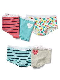 Gap Heart Girl Shorts (5 Pack) - Multi