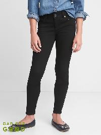 Gap High Stretch Super Skinny Jeans - Black wash