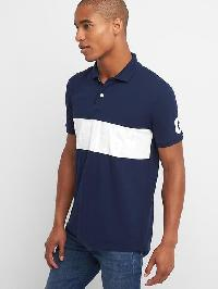 Gap Chest Stripe Logo Polo - Tapestry navy