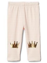 Gap Graphic Stripe Stretch Jersey Leggings - Pink cameo