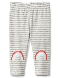 Gap Graphic Stripe Stretch Jersey Leggings - Light heather grey b08