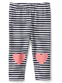 Gap Graphic Stripe Stretch Jersey Leggings - Elysian blue
