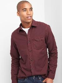 Gap Oxford Garment Dye Standard Fit Shirt - Pinot noir