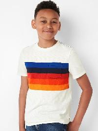 Gap Chest Stripe Pocket Slub Tee - New off white