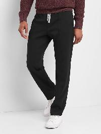 Gap Double Knit Pintuck Pants - True black