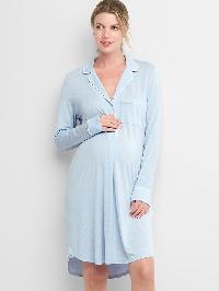 Gap Print Sleep Shirtdress - Ice blue