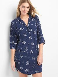 Gap Dreamwell Sleep Gown - Navy floral blade