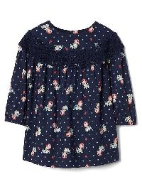 Gap Floral Lace Dress - Elysian blue