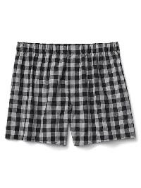 "Gap Check Plaid Boxers (4.5"") - Black plaid"