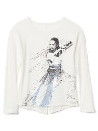 Gap &#124 Star Wars� Embellished Split Back Tee - Ivory frost