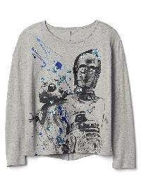 Gap &#124 Star Wars� Embellished Split Back Tee - H. grey b08 7062