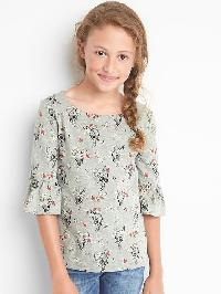 Gapkids &#124 Disney Print Bell Sleeve Slub Tee - Grey heather