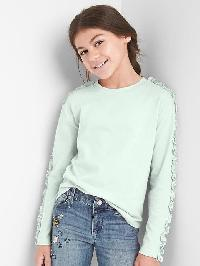 Gap Ruffle Long Sleeve Tee - Stillwater