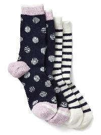 Gap Print Crew Socks (2 Pairs) - Dark navy multi
