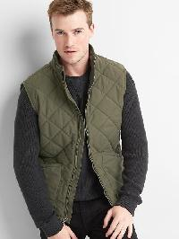 Gap Quilted Layer Vest - Black moss