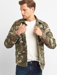 Gap Camo Shirt Jacket - Camo print