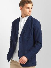 Gap Indigo Knit Denim Blazer - True indigo