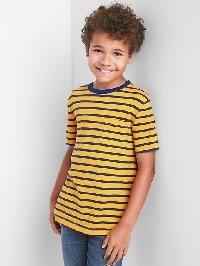 Gap Stripe Pocket Slub Tee - Nugget gold