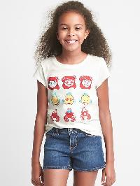 Gapkids &#124 Disney Embellished Short Sleeve Tee - New off white