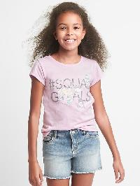 Gapkids &#124 Disney Embellished Short Sleeve Tee - Light iris