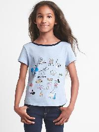 Gapkids &#124 Disney Minnie Mouse Sequin Boatneck Tee - Blue heather