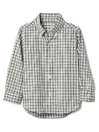 Gap Gingham Poplin Button Down Shirt - Oxide gray