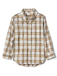 Gap Check Button Down Pocket Shirt - Gold pendant