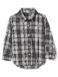 Gap Plaid Button Down Shirt - Blue slate