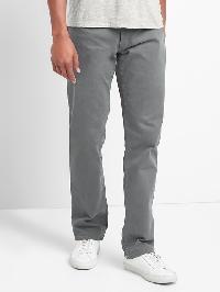 Gap Twill Straight Fit Pants (Stretch) - Pavement grey
