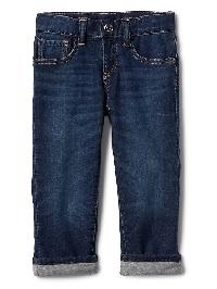 Gap Stretch Soft + Lined Straight Jeans - Medium wash