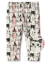 Gap Halloween Cat Stretch Jersey Leggings - Ivory frost