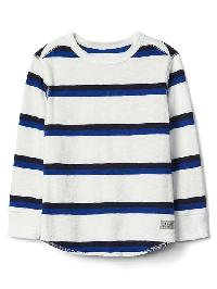 Gap Stripe Waffle Knit Tee - New off white