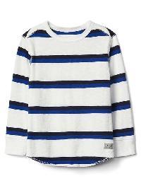 Gap Stripe Waffle Knit Tee - New off white