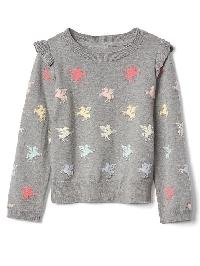 Gap Pegasus Ruffle Sweater - Grey heather