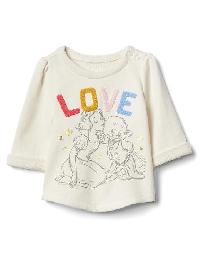 Babygap &#124 Disney Baby Snow White And The Seven Dwarfs Terry Pullover - Ivory frost
