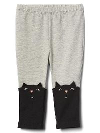 Gap Halloween Cat Stretch Jersey Leggings - Light heather grey b08