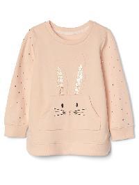 Gap Animal Tunic Pullover - Bunny