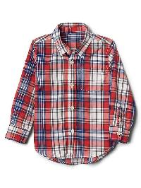 Gap Plaid Poplin Button Down Shirt - Modern red 2