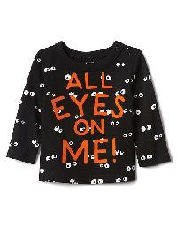 Gap Halloween Spooky Eyes Tee - True black