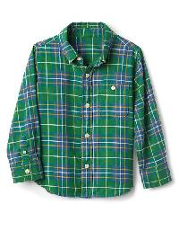Gap Plaid Flannel Button Down Shirt - Parrot green