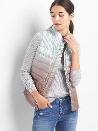 Gap Coldcontrol Lite Ombre Puffer Vest - Rose gold