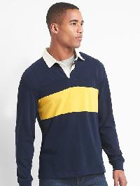 Gap Chest Stripe Rugby Shirt - Tapestry navy