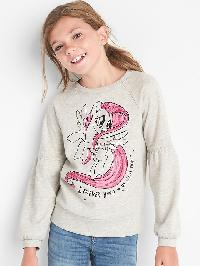 Gapkids &#124 Hasbro My Little Pony Crew Pullover - Grey heather b03