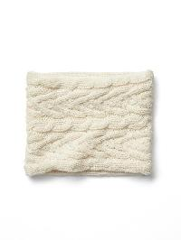 Gap Cable Knit Neckwarmer - Ivory frost