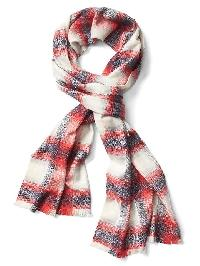 Gap Shimmer Plaid Cozy Scarf - Multi